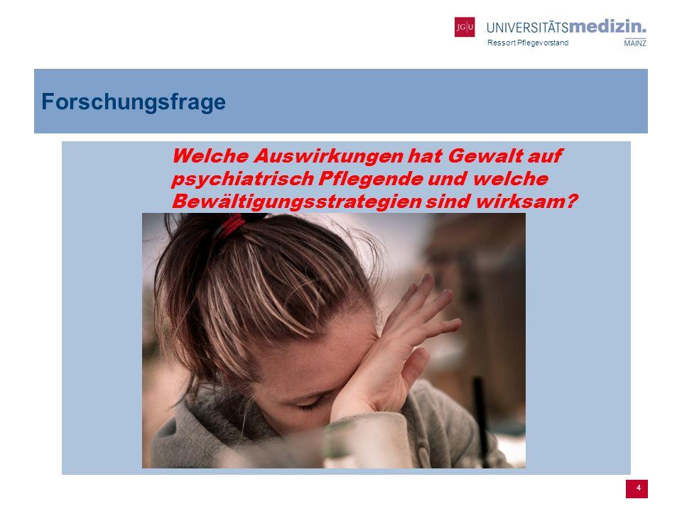 Ressort Pflegevorstand Fazit es wird deutlich dass Gewalt unterschiedlich wahrgenommen wird kaum deutschsprachige Studien zu diesem Thema physisch: Trainingsprogramme im Umgang mit Gewalt psychisch: Thema wird vernachlässigt, kaum Nachsorgeangebote in diesem Bereich 25