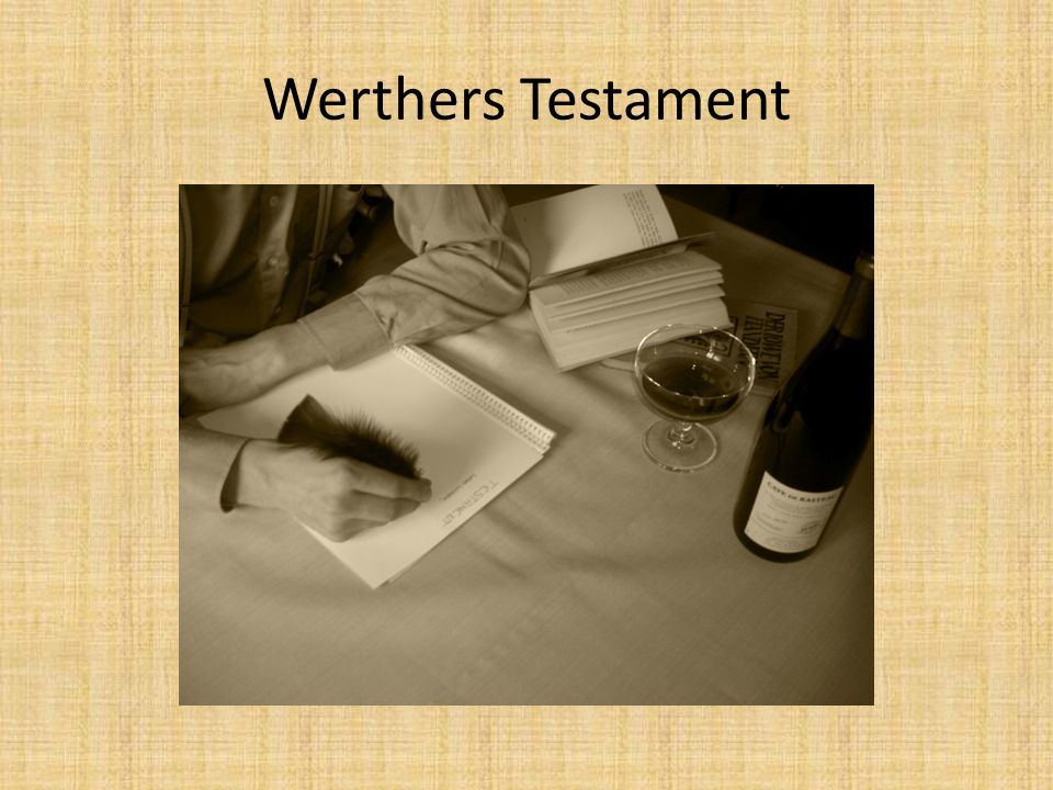 Werthers Testament