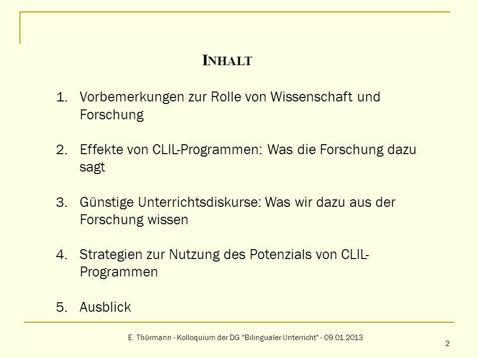 E. Thürmann - Kolloquium der DG