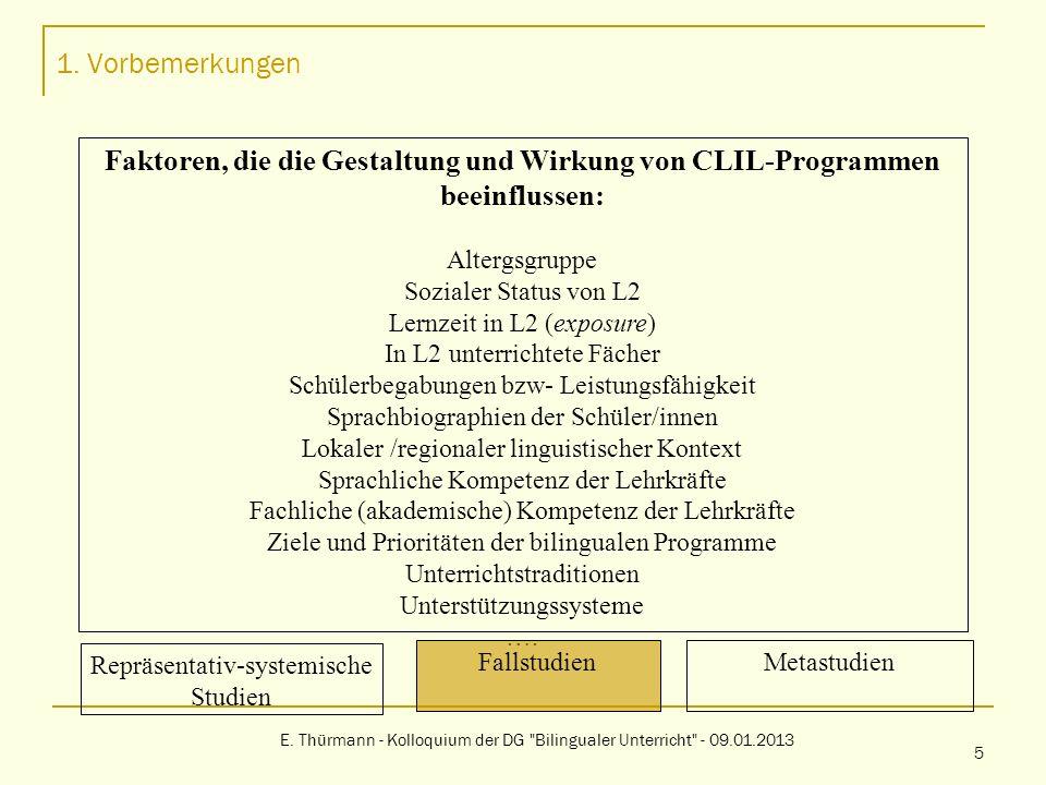 2.Effekte von CLIL-Programmen: Was die Forschung dazu sagt E.