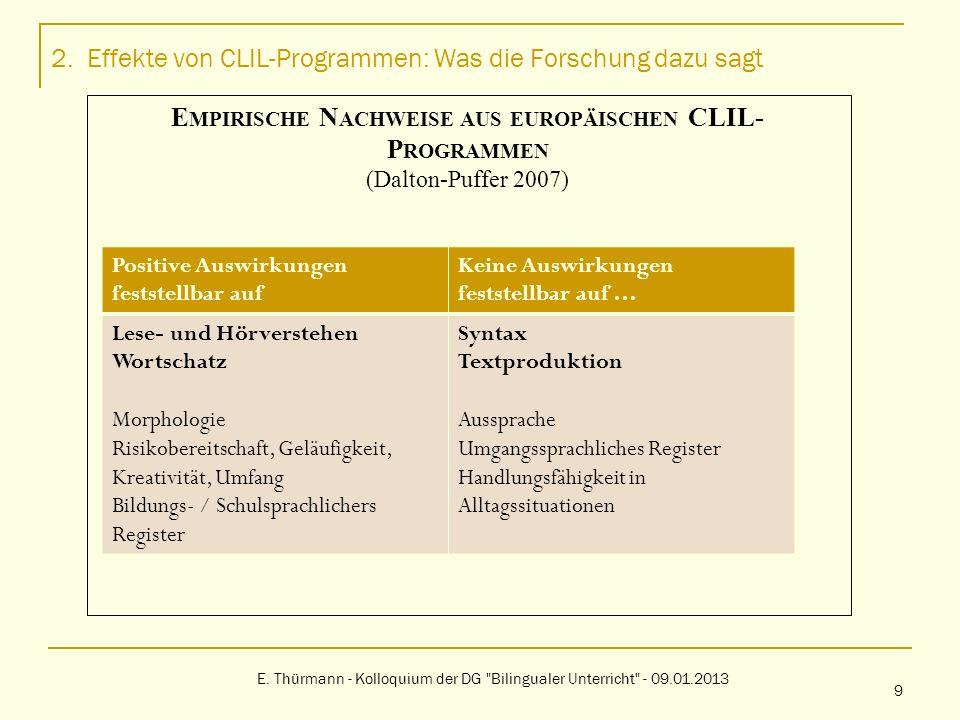 4.Strategien zur Nutzung des Potenzials von CLIL-Programmen E.