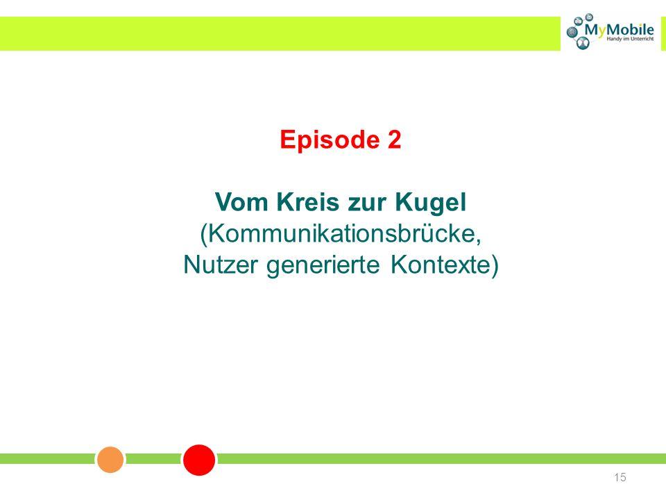 15 Episode 2 Vom Kreis zur Kugel (Kommunikationsbrücke, Nutzer generierte Kontexte)