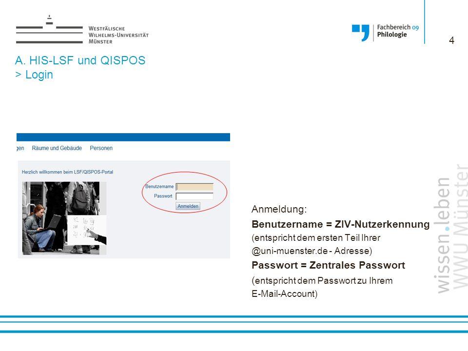A.HIS-LSF und QISPOS > HIS-LSF HIS-LSF ist das Online- Vorlesungsverzeichnis der WWU Münster.