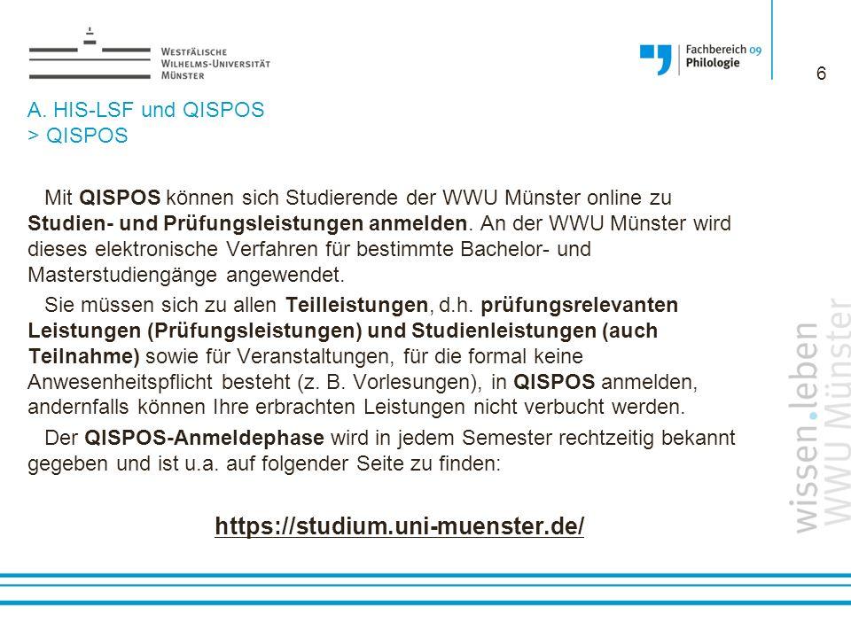 A.HIS-LSF und QISPOS > QISPOS ACHTUNG.