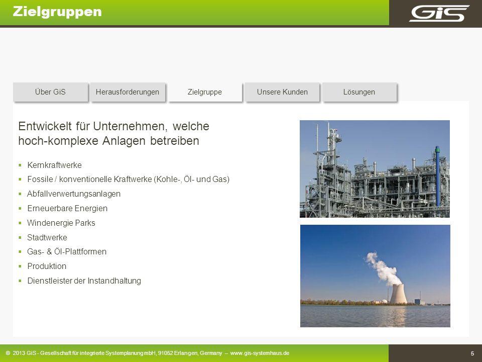 © 2013 GiS - Gesellschaft für integrierte Systemplanung mbH, 91052 Erlangen, Germany – www.gis-systemhaus.de 5 Zielgruppen Entwickelt für Unternehmen,