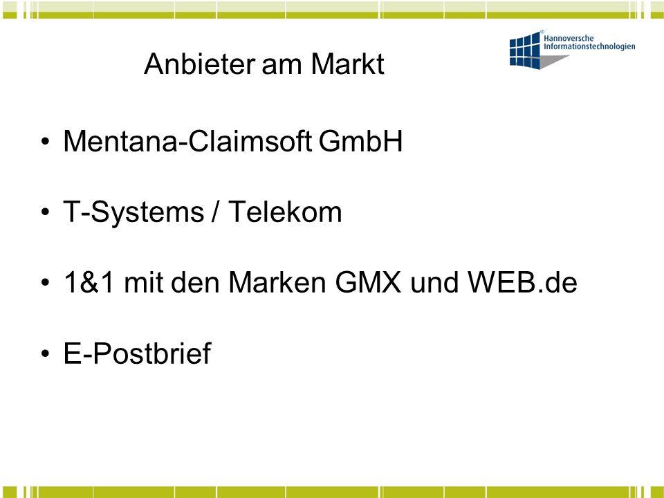 Anbieter am Markt Anbieter liefern Gateway teilw.mit GW/GW Verschlüsselung – tendenziell Standard.