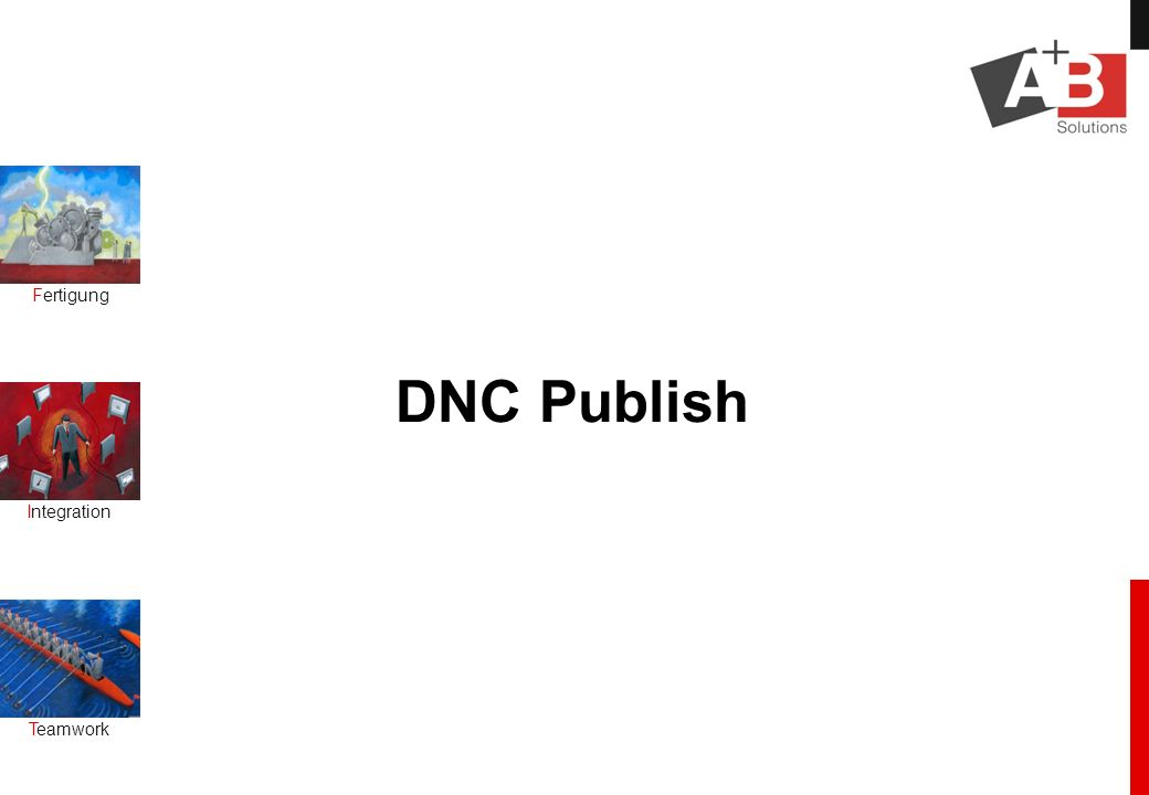 Fertigung Integration Teamwork DNC Publish