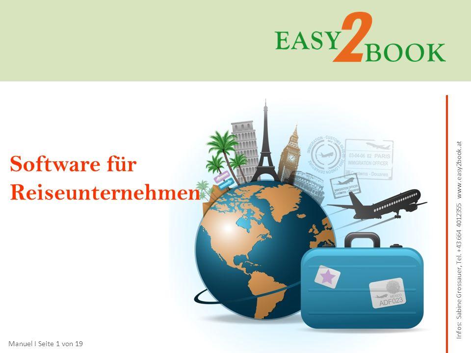 Sie sind… …ein touristisches Unternehmen, z.B.Incoming- oder Outgoingreisebüro, Reiseveranstalter.