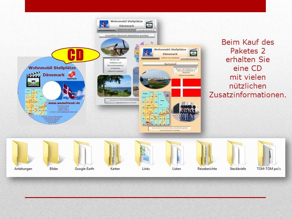 Beim Kauf des Paketes 2 erhalten Sie eine CD mit vielen nützlichen Zusatzinformationen. CD