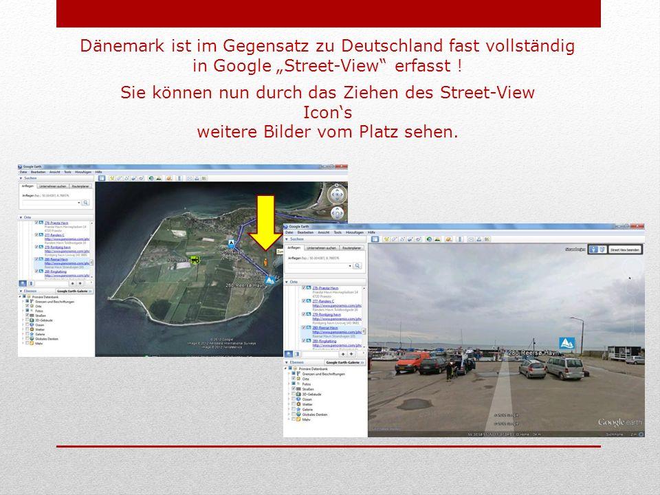 Dänemark ist im Gegensatz zu Deutschland fast vollständig in Google Street-View erfasst .