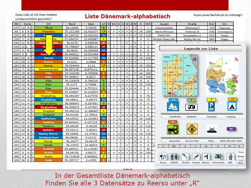 In der Gesamtliste Dänemark-alphabetisch Finden Sie alle 3 Datensätze zu Reerso unter R