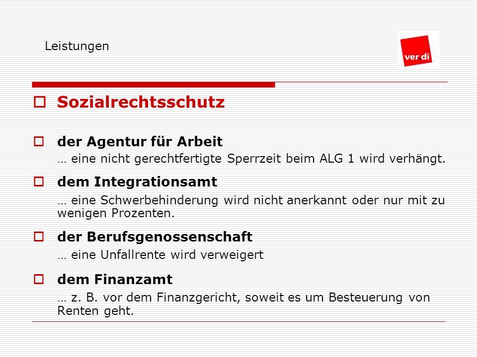 Sozialrechtsschutz der Agentur für Arbeit … eine nicht gerechtfertigte Sperrzeit beim ALG 1 wird verhängt.