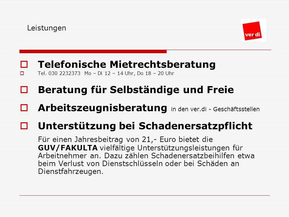 Telefonische Mietrechtsberatung Tel.
