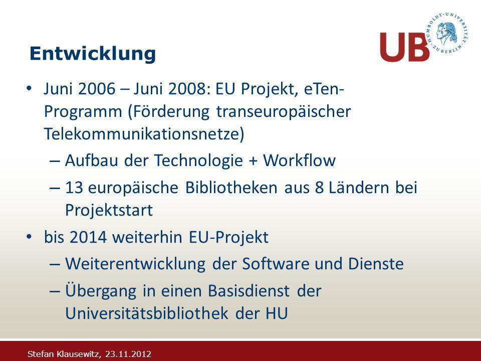 Stefan Klausewitz, 23.11.2012 OCR/ PDF Konvertierung