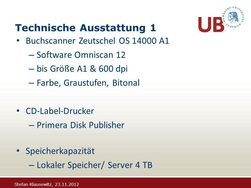 Stefan Klausewitz, 23.11.2012 … es geht weiter Band wird ausgehoben oder in einer Zweigbibliothek zur Bereitstellung bestellt.