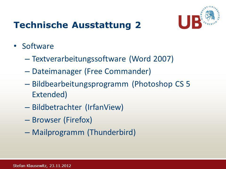Stefan Klausewitz, 23.11.2012 ODM: Auslieferung