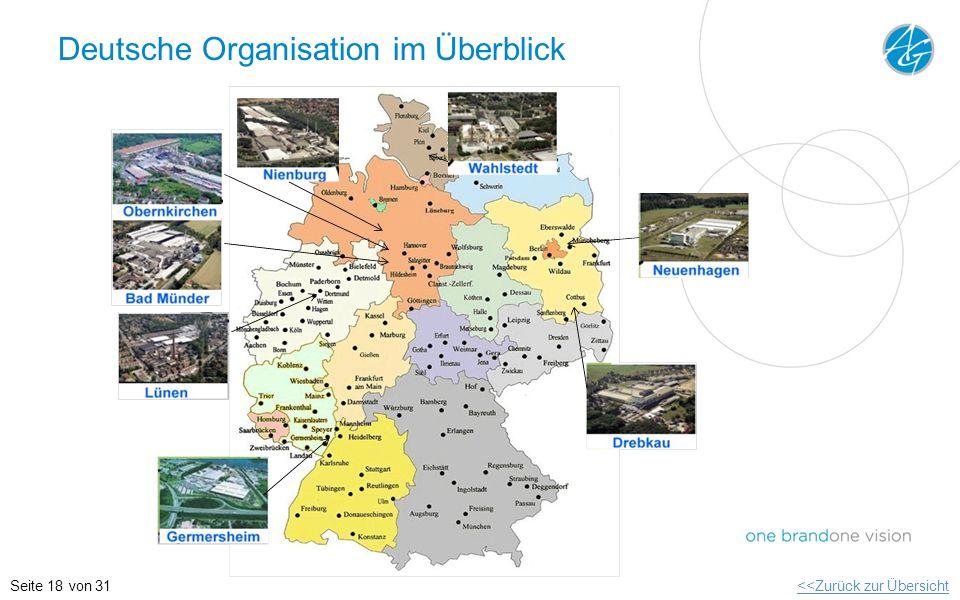 Deutsche Organisation im Überblick <<Zurück zur ÜbersichtSeite 18 von 31