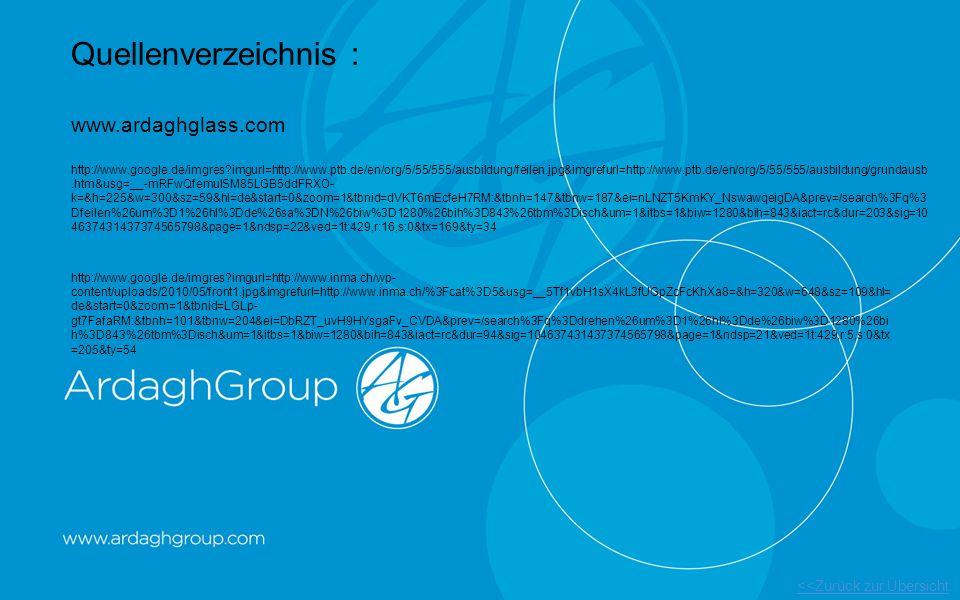 Quellenverzeichnis : www.ardaghglass.com http://www.google.de/imgres?imgurl=http://www.ptb.de/en/org/5/55/555/ausbildung/feilen.jpg&imgrefurl=http://w