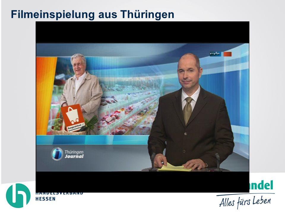 Filmeinspielung aus Thüringen