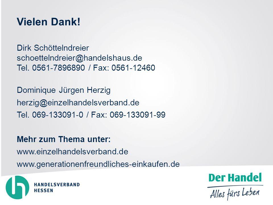 Vielen Dank. Dirk Schöttelndreier schoettelndreier@handelshaus.de Tel.