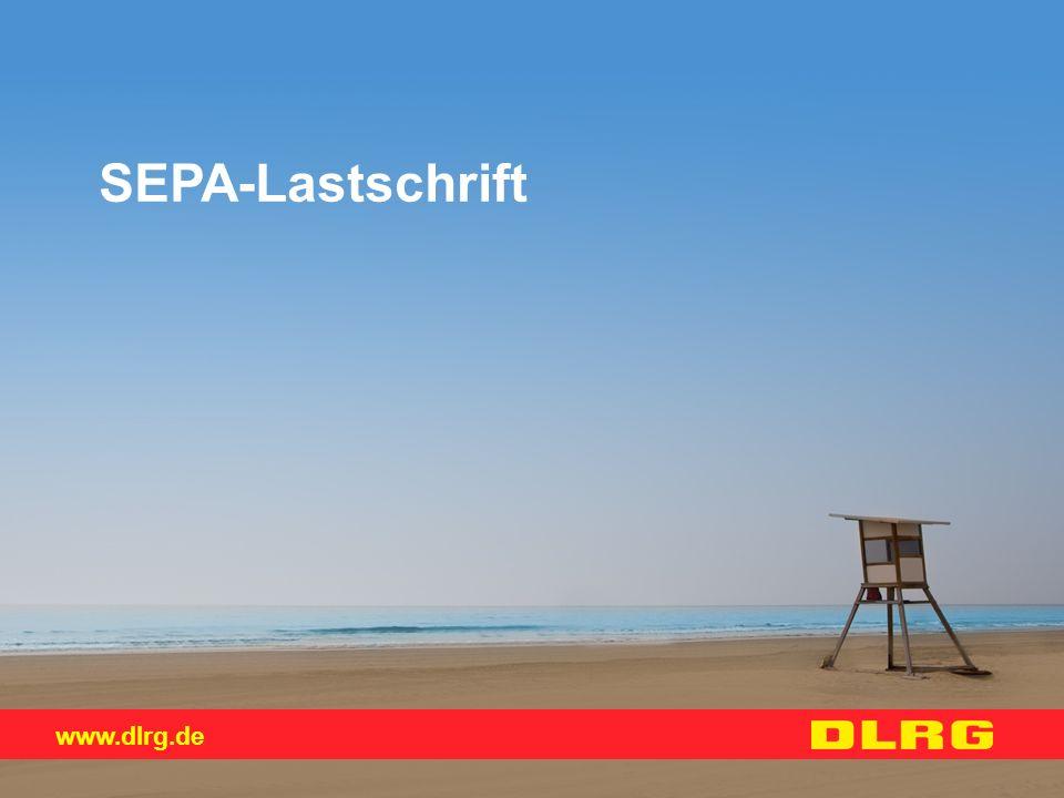 www.dlrg.de SEPA-Lastschrift