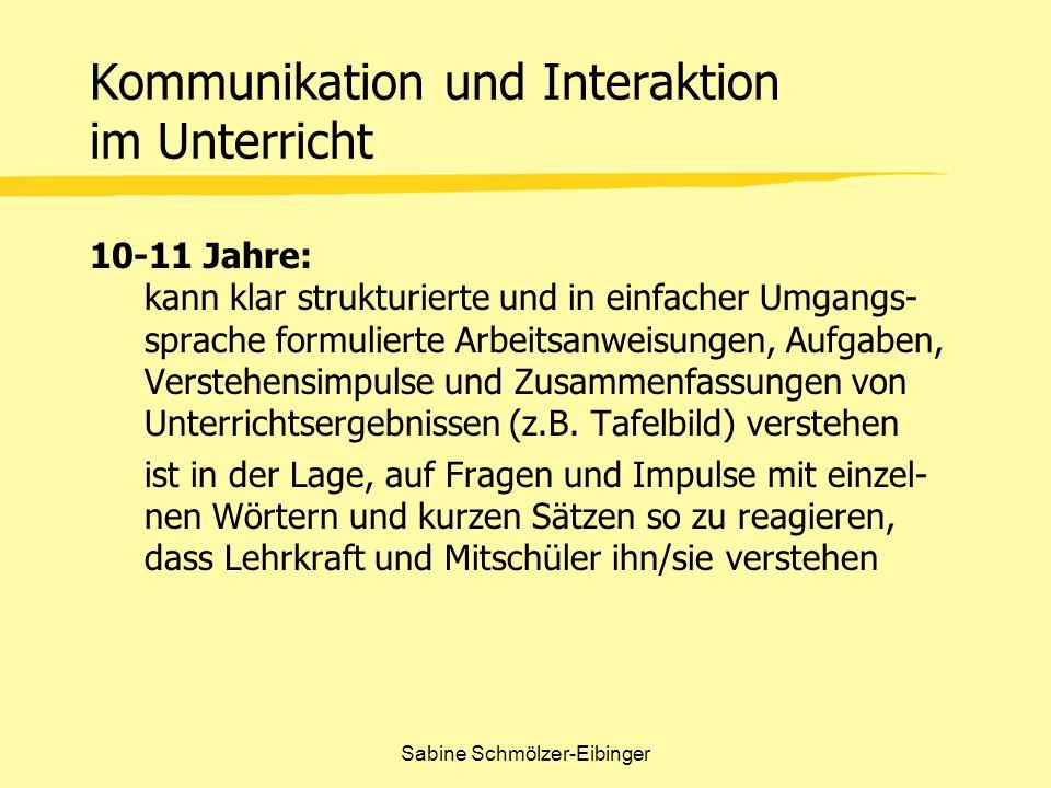Sabine Schmölzer-Eibinger beschreiben Komplexe Handlungen Datenbank Kategorien / Felder Beispiele für möglichen Datenbank Inhalt Die Schüler sind in der Lage, biologische Fakten zu beschreiben (z.B.