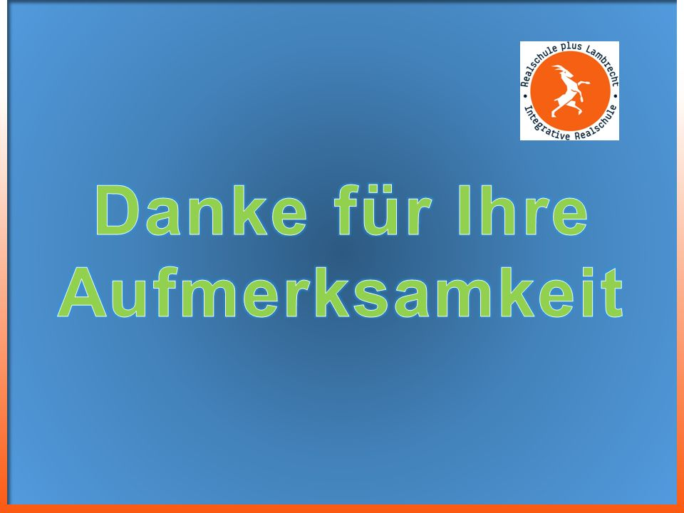 Integrative Realschule + Lambrecht Wiesenstra ß e 17 D-67466 Lambrecht (Pfalz) Tel: 06325 71 11 Fax: 06325 98 04 31 rsplus-lambrecht@t-online.de www.r
