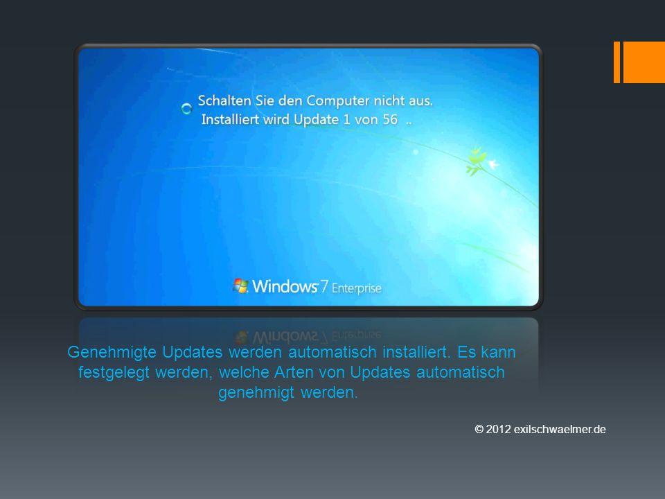 © 2012 exilschwaelmer.de Auf dem Server kann der Status der Updateverteilung überwacht werden.