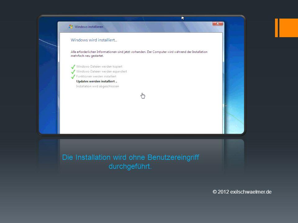 © 2012 exilschwaelmer.de Beim Start des Clients wird auf neue bzw. aktualisierte Software geprüft.