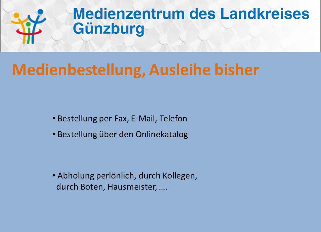 Bestellung über den Onlinekatalog www.mzgz.de Anmeldung Suche Auswahl und Bestellung Medienbestellung, Ausleihe Freischaltdaten werden innerhalb von einigen Minuten an den Schulmedienserver übertragen.