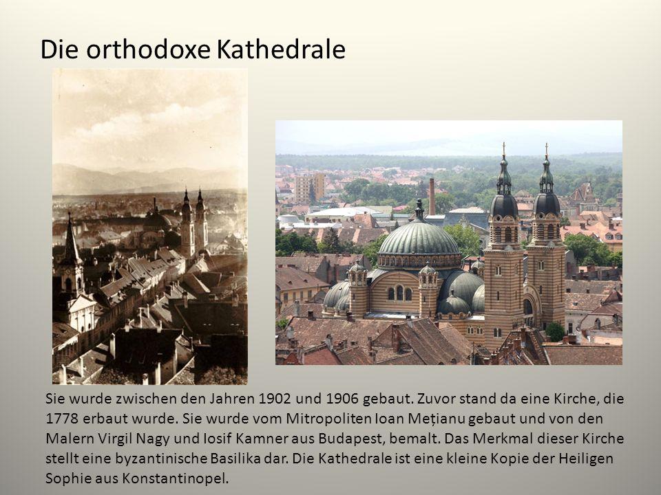 Die orthodoxe Kathedrale Sie wurde zwischen den Jahren 1902 und 1906 gebaut. Zuvor stand da eine Kirche, die 1778 erbaut wurde. Sie wurde vom Mitropol