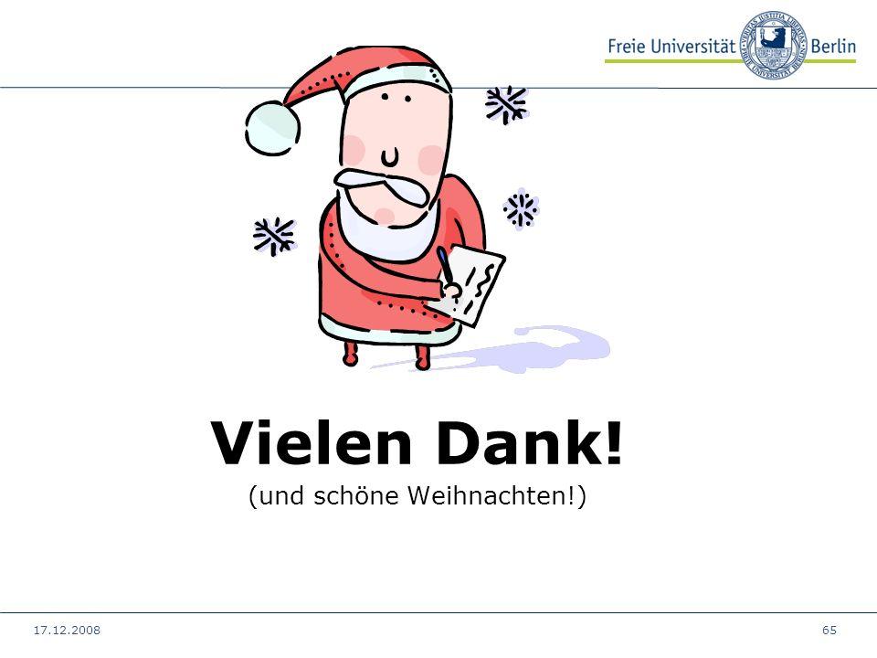 17.12.200865 Vielen Dank! (und schöne Weihnachten!)