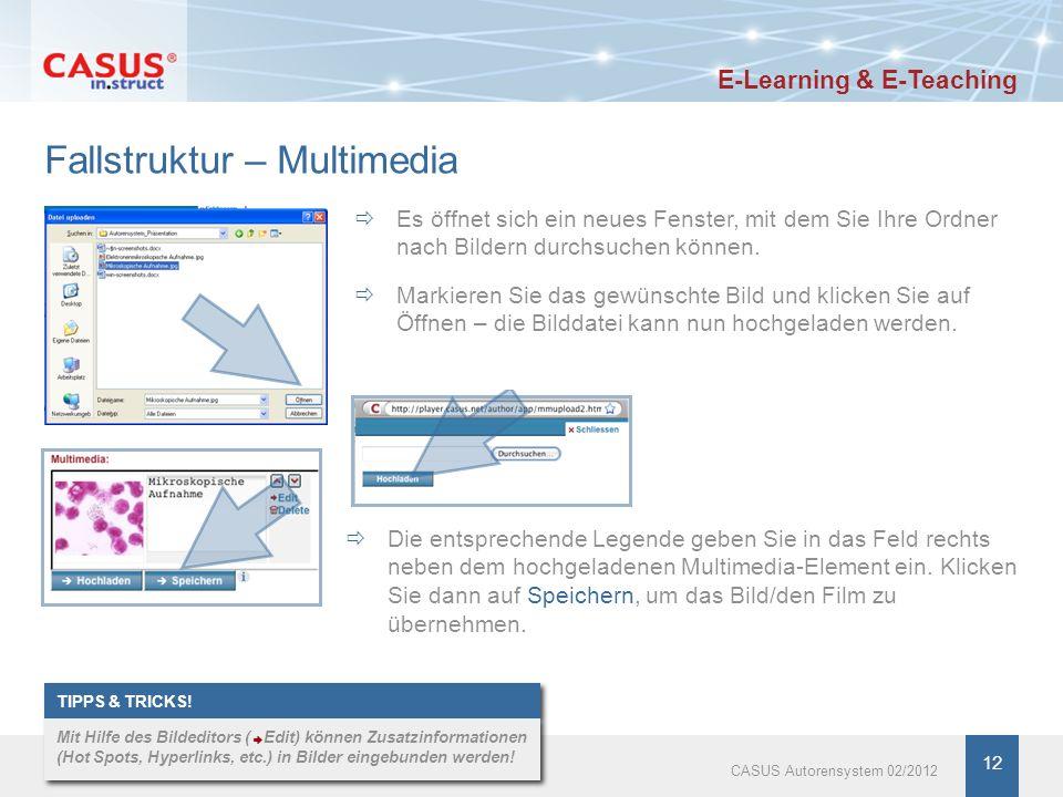 www.instruct.de 12 Fallstruktur – Multimedia Es öffnet sich ein neues Fenster, mit dem Sie Ihre Ordner nach Bildern durchsuchen können. Die entspreche