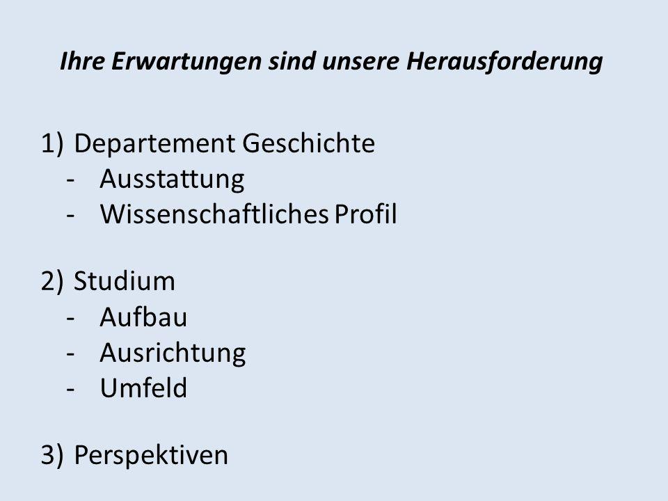 Personelle Ausstatung des Departements Geschichte Professuren - für Allgemeine Geschichte des Mittelalters (Jan Rüdiger, ab 1.
