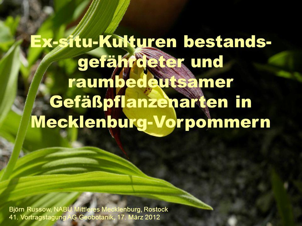 Ex-situ-Kulturen bestands- gefährdeter und raumbedeutsamer Gefäßpflanzenarten in Mecklenburg-Vorpommern Björn Russow, NABU Mittleres Mecklenburg, Rostock 41.