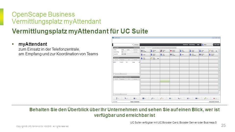 OpenScape Business Vermittlungsplatz myAttendant myAttendant zum Einsatz in der Telefonzentrale, am Empfang und zur Koordination von Teams Vermittlung