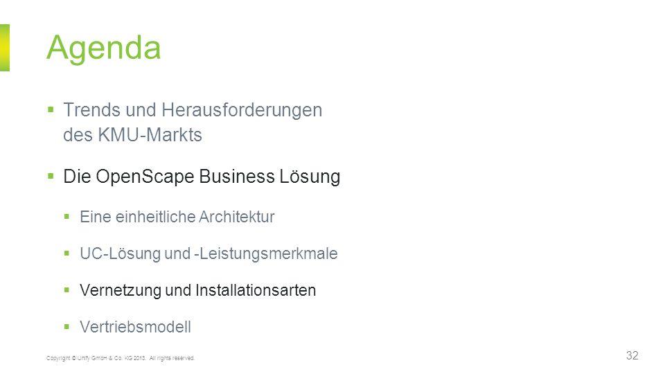 Agenda Trends und Herausforderungen des KMU-Markts Die OpenScape Business Lösung Eine einheitliche Architektur UC-Lösung und -Leistungsmerkmale Vernet