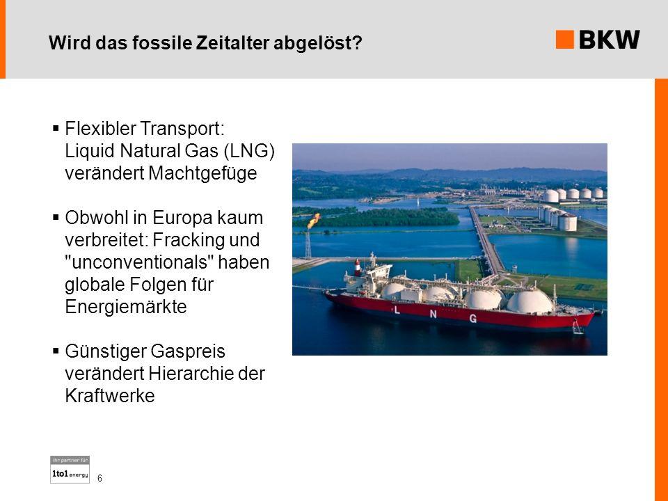 Wird das fossile Zeitalter abgelöst? Flexibler Transport: Liquid Natural Gas (LNG) verändert Machtgefüge Obwohl in Europa kaum verbreitet: Fracking un