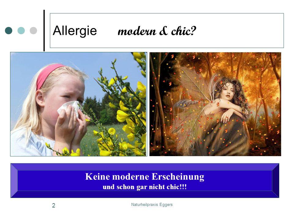 Naturheilpraxis Eggers 2 Allergie modern & chic? Keine moderne Erscheinung und schon gar nicht chic!!!