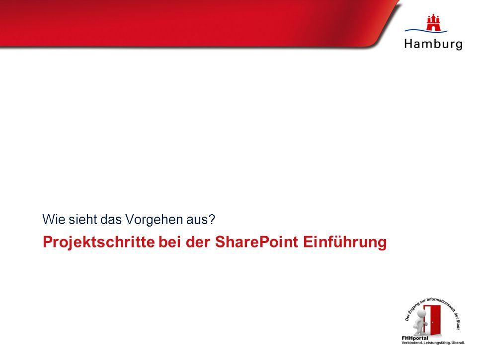 Projektschritte bei der SharePoint Einführung Wie sieht das Vorgehen aus?