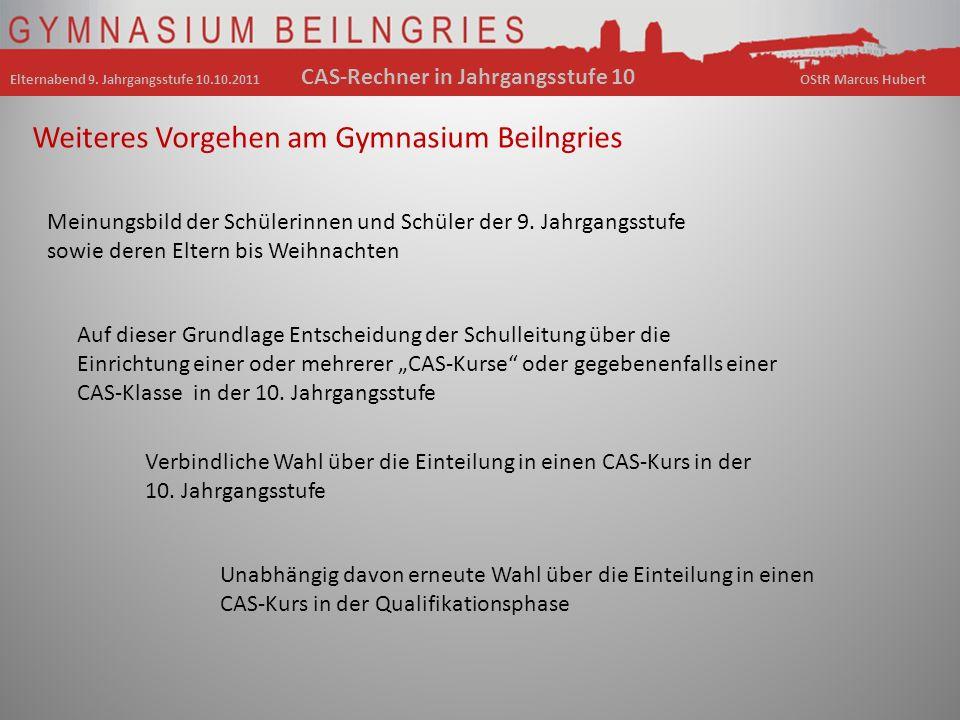 Weiteres Vorgehen am Gymnasium Beilngries Meinungsbild der Schülerinnen und Schüler der 9.