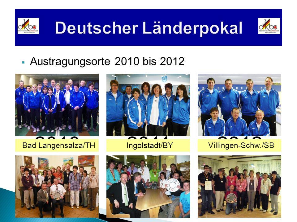 2010 Austragungsorte 2010 bis 2012 20122011 Bad Langensalza/THIngolstadt/BYVillingen-Schw./SB