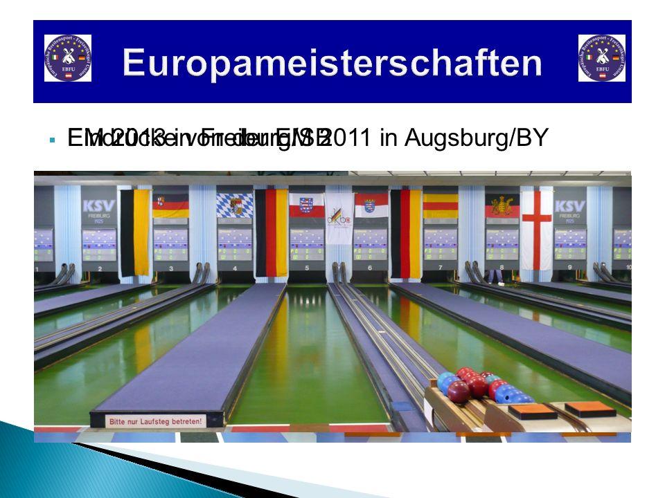 Eindrücke von der EM 2011 in Augsburg/BY EM 2013 in Freiburg/SB