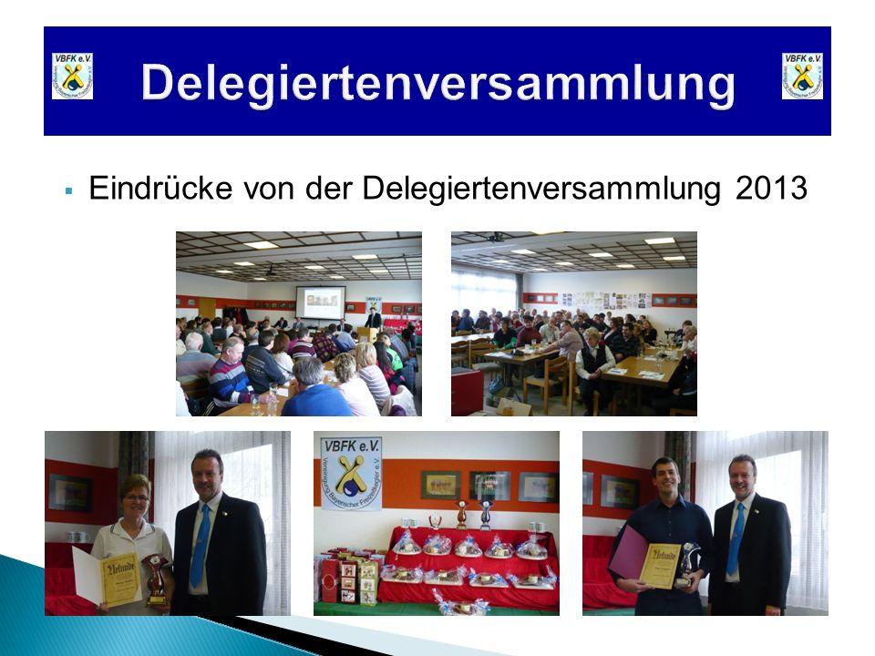 Eindrücke von der Delegiertenversammlung 2013