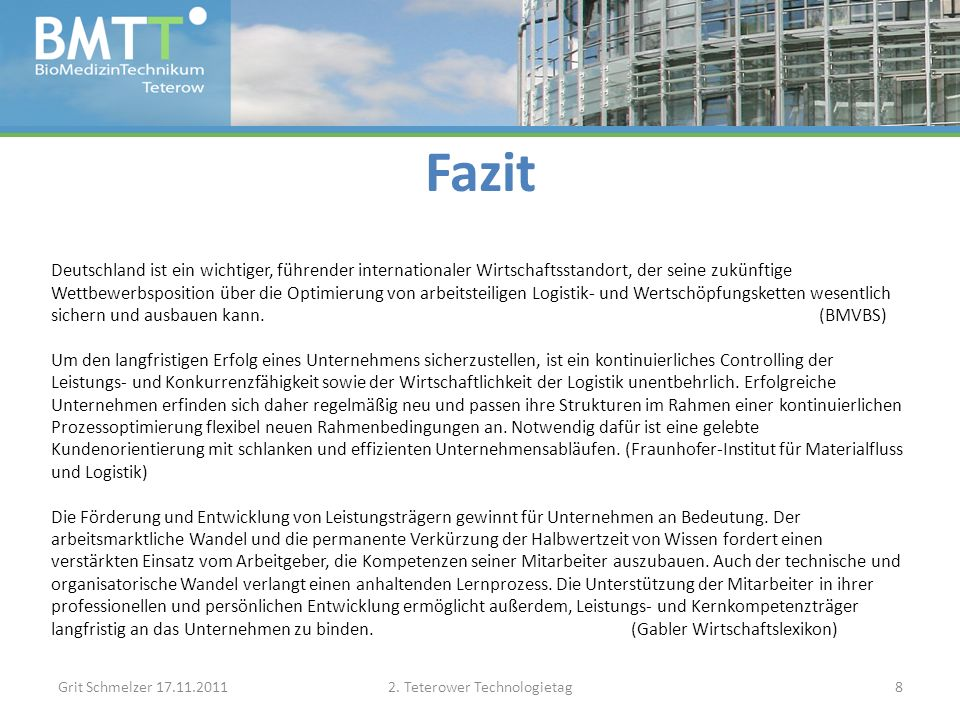 Fazit Grit Schmelzer 17.11.20112.