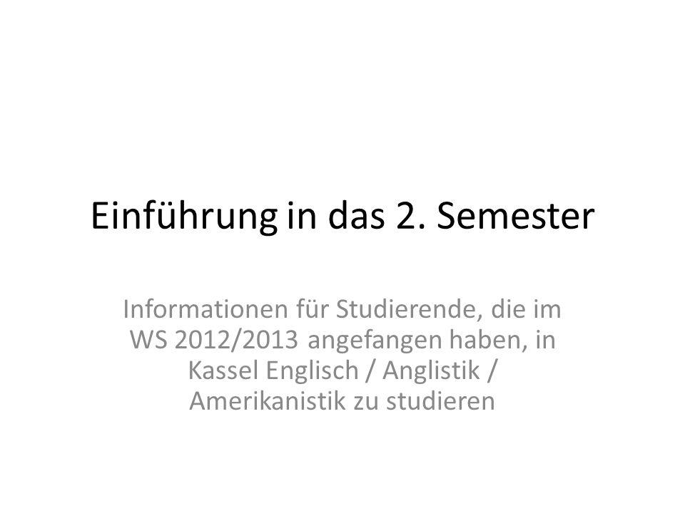 Was ist für das 2.Semester für meinen Studiengang vorgesehen.