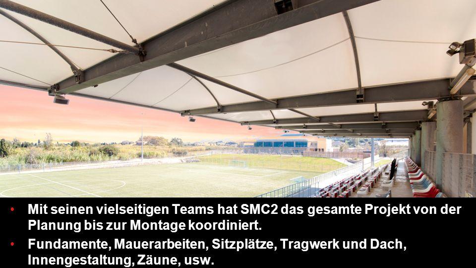13 Mit seinen vielseitigen Teams hat SMC2 das gesamte Projekt von der Planung bis zur Montage koordiniert.