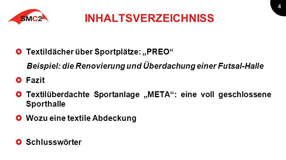 5 Sein Ursprung in Deutschland nahm textiles Bauen mit der Errichtung des Olympiastadions in München, 1974 Seitdem verfügen die meisten deutschen Stadien über textile Dächer Warum sind Membrane Dächer für großen Stadien so weit verbreitet.