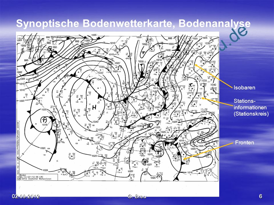 NO COPY – www.fliegerbreu.de 7 Die wichtigsten Wetterkartensymbole und Abkürzungen 2 1 - 2 kt 3 - 7 kt 8 - 12 kt 48 - 52 kt 23 - 27 kt 78 - 82 kt 118 - 122 kt Darstellung des Windes: Abkürzungen für Wolken: ST = StratusSC = Stratocumulus CU = CumulusNS = Nimbostratus CB = CumulonimbusAC = Altocumulus AS = AltostratusTCU = towering Cu CI = Cirrus Abkürzungen für Wettererscheinungen: HZ = haze / trockener Dunst BR = mist / (frz.