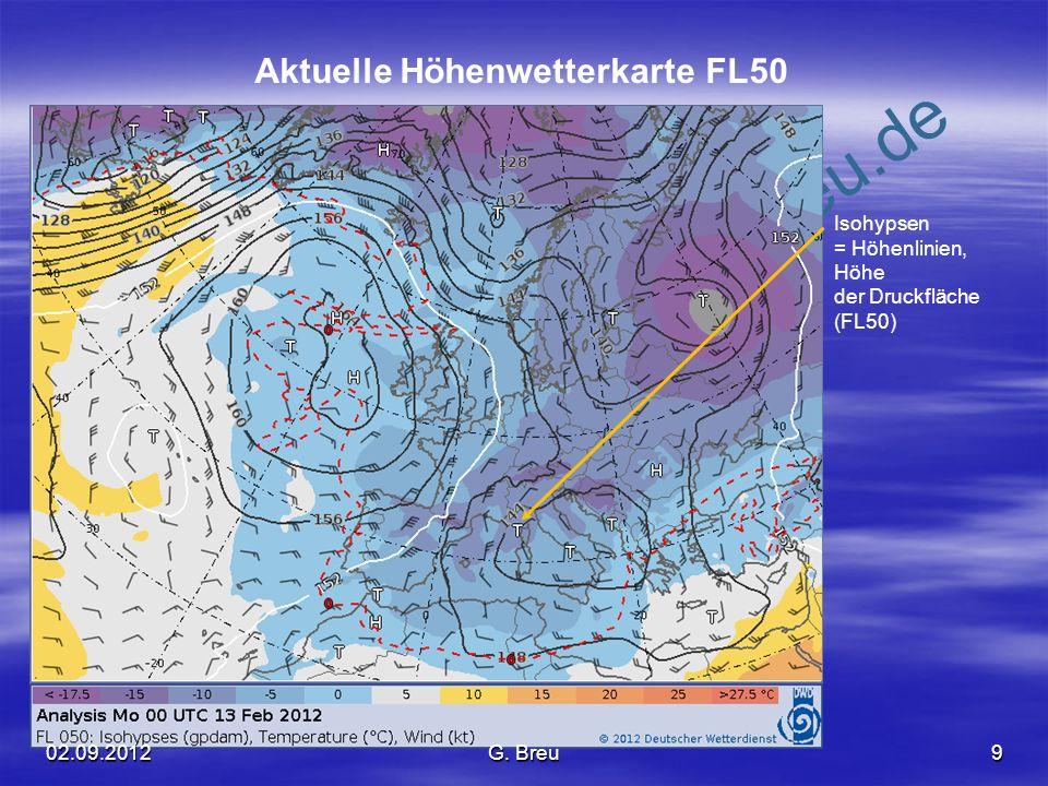 NO COPY – www.fliegerbreu.de 10 Low Level Significant Weather Chart (LLSWC ) Das Beispiel zeigt eine Wetterlage, bei der es sich nicht unbedingt empfiehlt, ins Flugzeug zu steigen.